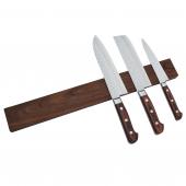 Knivmagnet i valnötsträ 7 knivar 45 cm