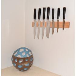 Knivmagnet i körsbärsträ 7 knivar 45 cm