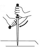 Træk kniv over strygestål 3